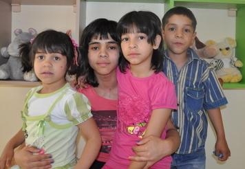 Nicole (14) , Nicoletta(9), Nicolina(5) and Nicholas (7)
