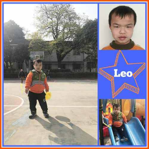 PD: in the 3-photo collage, Leo is doing the following activities - standing on a basketball court, sliding down a slide, & standing in front of a blank wall, looking into the camera for a headshot. Leo has handsome features, dark almond-shaped eyes, & black hair.