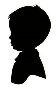 PD:  An image of a silhouette of a male child in profile view. Simon's identity is concealed due to country requirements.