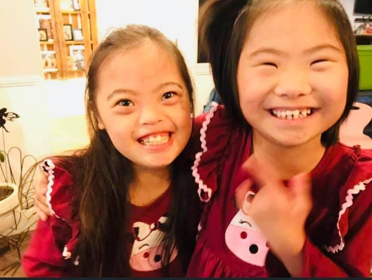 </p> <h4>Down Syndrome adoption has blessed us with more joy than we ever knew was humanly possible! These 2 girls brighten every room they enter with their laughter and dancing. They have opened others eyes to see unconditional love. They have taught their 5 siblings to have patience, think outside the box and to see blessings in ordinary things!</h4> <p>